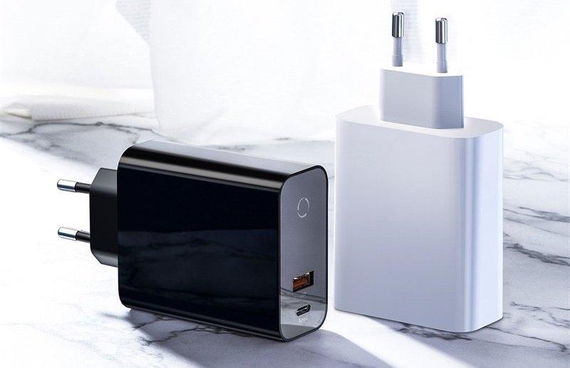Baseus Speed PPS ładowarka USB + USB C 45W ZbitaSzybka.shop